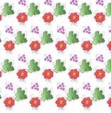 Ζωηρόχρωμο διανυσματικό σχέδιο λουλουδιών Στοκ Εικόνες