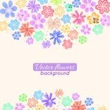 Ζωηρόχρωμο διανυσματικό υπόβαθρο λουλουδιών Στοκ φωτογραφία με δικαίωμα ελεύθερης χρήσης