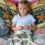 ζωηρόχρωμο κάθισμα κοριτ&si Στοκ Εικόνες