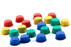 Ζωηρόχρωμο κέικ φλυτζανιών αργιλίου. Στοκ φωτογραφία με δικαίωμα ελεύθερης χρήσης