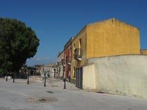 Ζωηρόχρωμο και ήρεμο μεσογειακό τετράγωνο Στοκ εικόνα με δικαίωμα ελεύθερης χρήσης