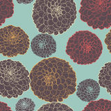 Ζωηρόχρωμο καταπληκτικό άνευ ραφής floral εκλεκτής ποιότητας ιαπωνικό μπλε σχέδιο Στοκ Φωτογραφία