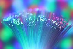 Ζωηρόχρωμο καλώδιο δικτύων ινών οπτικό Στοκ φωτογραφία με δικαίωμα ελεύθερης χρήσης