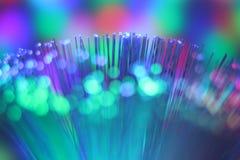 Ζωηρόχρωμο καλώδιο δικτύων ινών οπτικό Στοκ Φωτογραφίες