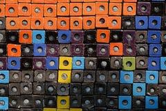 Ζωηρόχρωμο κεραμικό υπόβαθρο επιφάνειας σύστασης κιβωτίων κύβων συνδυασμού Στοκ φωτογραφίες με δικαίωμα ελεύθερης χρήσης