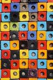 Ζωηρόχρωμο κεραμικό υπόβαθρο επιφάνειας σύστασης κιβωτίων κύβων συνδυασμού Στοκ Φωτογραφίες