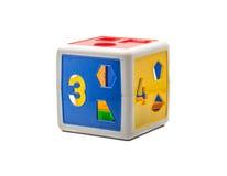 Ζωηρόχρωμο κιβώτιο παιχνιδιών μορφής Στοκ Εικόνες