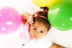 ζωηρόχρωμο κορίτσι μπαλο&n Στοκ Εικόνες
