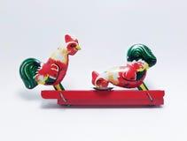 Ζωηρόχρωμο κοτόπουλο παιχνιδιών κασσίτερου Στοκ Φωτογραφία
