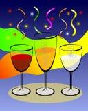 ζωηρόχρωμο κρασί γυαλιών &alp ελεύθερη απεικόνιση δικαιώματος