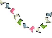 ζωηρόχρωμο λάστιχο μποτών Στοκ εικόνα με δικαίωμα ελεύθερης χρήσης