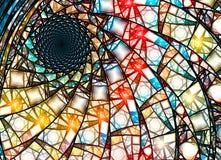 Ζωηρόχρωμο λεκιασμένο fractal γυαλιού σε χρυσή αναλογία ελεύθερη απεικόνιση δικαιώματος