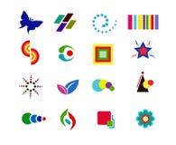 ζωηρόχρωμο λογότυπο στοιχείων Στοκ Εικόνες