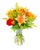 ζωηρόχρωμο λουλούδι κεντρικών τεμαχίων ανθοδεσμών ρύθμισης Στοκ φωτογραφίες με δικαίωμα ελεύθερης χρήσης