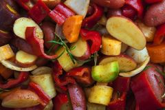 Ζωηρόχρωμο μίγμα τροφίμων Στοκ Φωτογραφίες