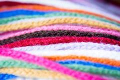Ζωηρόχρωμο μαντίλι μαλλιού Στοκ Φωτογραφίες