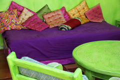 Ζωηρόχρωμο μαροκινό δωμάτιο Στοκ Φωτογραφία