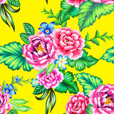 Ζωηρόχρωμο μεξικάνικο floral σχέδιο Στοκ Φωτογραφίες