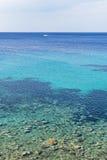 Ζωηρόχρωμο μεσογειακό Seascape Στοκ Εικόνα