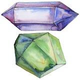 Ζωηρόχρωμο μετάλλευμα κοσμήματος βράχου διαμαντιών Στοκ Εικόνα