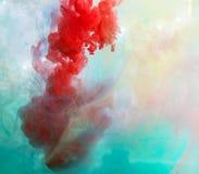 Ζωηρόχρωμο μελάνι στο νερό αφηρημένη ανασκόπηση Χρώμα καπνού Στοκ φωτογραφίες με δικαίωμα ελεύθερης χρήσης