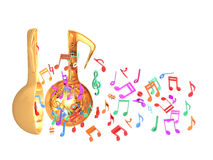 Ζωηρόχρωμο μισό ανοιχτών πορτών μουσικής διανυσματική απεικόνιση