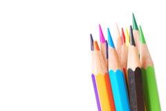 Ζωηρόχρωμο μολύβι στο υπόβαθρο απομονώσεων Στοκ Φωτογραφία