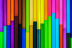 ζωηρόχρωμο μολύβι χρώματο&sig Στοκ Εικόνες
