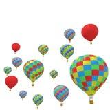 Ζωηρόχρωμο μπαλόνι ομάδας που απομονώνεται στο άσπρο υπόβαθρο απεικόνιση αποθεμάτων