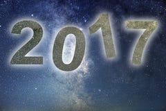 2017 Ζωηρόχρωμο νέο έτος πυράκτωσης 2017 νυχτερινός ουρανός αστραπής απεικόνισης αφαίρεσης Στοκ φωτογραφίες με δικαίωμα ελεύθερης χρήσης