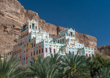 Ζωηρόχρωμο ξενοδοχείο Kataira σε Wadi Doan, Hadramaut, Υεμένη Στοκ Εικόνες