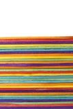 ζωηρόχρωμο ξύλινο ραβδί παγωτού Στοκ εικόνες με δικαίωμα ελεύθερης χρήσης