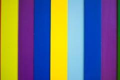 Ζωηρόχρωμο ξύλινο υπόβαθρο 5 τοίχων Στοκ Εικόνα