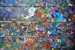 Ζωηρόχρωμο ξύλο τοίχων Στοκ Φωτογραφία