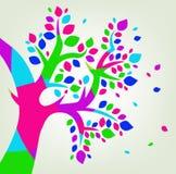 Ζωηρόχρωμο λογότυπο δέντρων Στοκ εικόνες με δικαίωμα ελεύθερης χρήσης