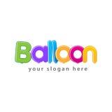 Ζωηρόχρωμο λογότυπο μπαλονιών Στοκ Εικόνα