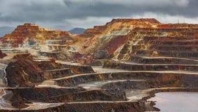 Ζωηρόχρωμο ορυχείο χαλκού του Ρίο Tinto Στοκ φωτογραφίες με δικαίωμα ελεύθερης χρήσης