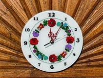 Ζωηρόχρωμο ουγγρικό διαμορφωμένο ρολόι Στοκ φωτογραφία με δικαίωμα ελεύθερης χρήσης