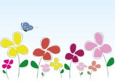 Ζωηρόχρωμο λουλούδι απεικόνιση αποθεμάτων
