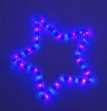 ζωηρόχρωμο πέντε δειγμένο αστέρι Στοκ Εικόνες