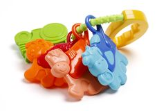 Ζωηρόχρωμο παιχνίδι κουδουνισμάτων μωρών στοκ εικόνες