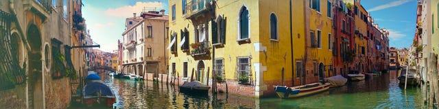 Ζωηρόχρωμο πανόραμα της Βενετίας το καλοκαίρι Στοκ φωτογραφίες με δικαίωμα ελεύθερης χρήσης