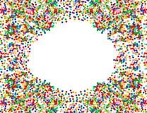 Ζωηρόχρωμο πλαίσιο κομφετί. κόκκινος, μπλε, πράσινος, κίτρινος Στοκ εικόνες με δικαίωμα ελεύθερης χρήσης