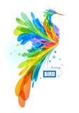 Ζωηρόχρωμο πουλί φαντασίας διανυσματική απεικόνιση