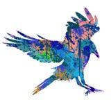 Ζωηρόχρωμο πουλί διανυσματική απεικόνιση
