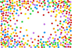 Ζωηρόχρωμο πολύχρωμο κομφετί Διανυσματική εορταστική απεικόνιση ενός μειωμένου λαμπρού κομφετί, που απομονώνεται σε έναν διαφανή Στοκ φωτογραφία με δικαίωμα ελεύθερης χρήσης