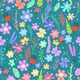 ζωηρόχρωμο πρότυπο λουλ&om Στοκ εικόνα με δικαίωμα ελεύθερης χρήσης