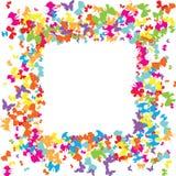 ζωηρόχρωμο πρότυπο πεταλούδων Στοκ φωτογραφία με δικαίωμα ελεύθερης χρήσης