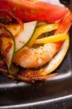 Ζωηρόχρωμο πρόχειρο φαγητό ορεκτικών γαρίδων γαρίδων Στοκ φωτογραφίες με δικαίωμα ελεύθερης χρήσης