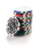 ζωηρόχρωμο πόκερ τσιπ Στοκ εικόνα με δικαίωμα ελεύθερης χρήσης